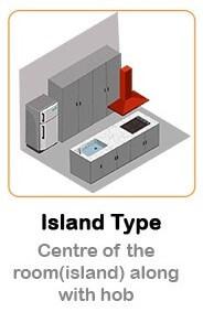 Island Type Kitchen Chimney
